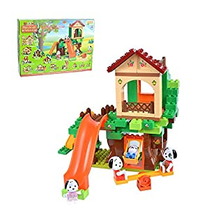 Androni Unico Plus 8933 Maximilian Families - Parque de juegos para construir (96 piezas) , Modelos/colores Surtidos, 1 Unidad