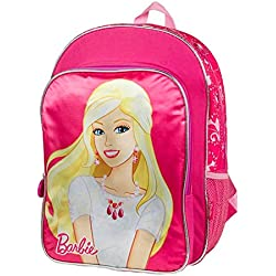 Barbie Deluxe Super Cute Girls School Bag mochila grande 16 pulgadas (rosa)