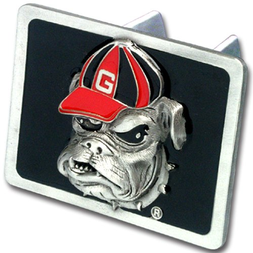 NCAA Georgia Bulldogs Trailer Hitch Cover, Class III