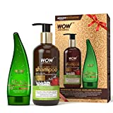 Wow Apple Cider Vinegar Shampoo, 300ml with 99% Pure Aloe Vera Gel, 130ml