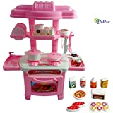 Elektra Kids Mini Kitchen Pretend Play Toy Set For Kids 32 Pcs