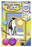 Ravensburger Malen nach Zahlen 28466 28466-Süße Pinguine-Malen nach Zahlen