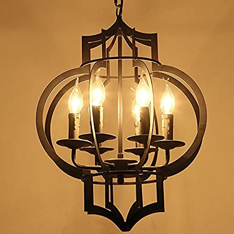 Frideko Vitnage Industrial Candle Lantern Ceiling Pendant Light with Chain for Restaurant Dining Room Bookshops