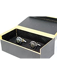 Coco Modern Men's Alloy Cufflink for Suit Wedding Shirt Business Shirt(Cuff_6)