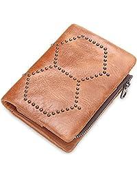 f8d5d6fd7d567 Yzibei Dauerhaft Leder Nieten Schmuck Unisex Magnetschnalle Geldbörse  Handtasche Reißverschlusstasche Praktische Sicherheit auslaufsicher Karte  Paket (