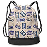 Best Chicago Audios - Audio Cassette Multi-Functional Unisex Beam Mouth Backpack&Drawstring Double Review