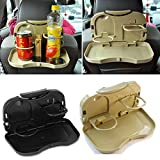 #7: CPEX Backseat Food Tray with Bottle Cup Holder for Car (Assorted)