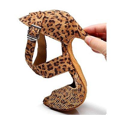 Scarpe da ballo - Non personalizzabile - Donna - Latinoamericano - Tacco a rocchetto - Pelle / Stampa/Trama -Nero / Blu / Verde / Blue