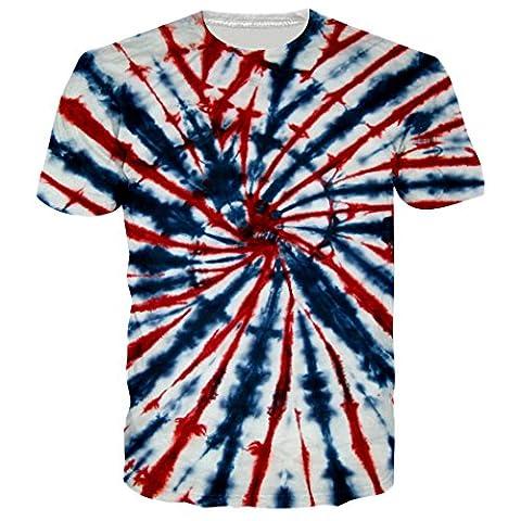 Leapparel Unisex 3d Tie Dye Graphic Design Hip Hop Cool T Shirts Tees Clothes XXL
