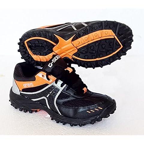 Grays G5000(negro)–Zapatos de hockey (talla UK 4