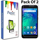 POPIO Tempered Glass for Xiaomi Redmi Go (Transparent)-Edge to Edge Full Screen Coverage with easy installation kit Pack of 2
