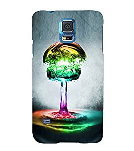 PrintVisa Designer Back Case Cover for Samsung Galaxy S5 :: Samsung Galaxy S5 G900I :: Samsung Galaxy S5 G900A G900F G900I G900M G900T G900W8 G900K (Bright Abstract Feathers)