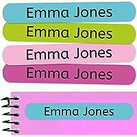 50 Etiquetas Adhesivas Personalizadas para marcar objetos, libros, fiambreras, etc. Medida 6 x 1 cm. Color 9