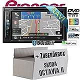 Skoda Octavia 2 1Z 2-Din Nexus Columbus Etc. - Autoradio Radio Pioneer AVIC-Z610BT - Navigation | Bluetooth | DVD | Apple CarPlay Einbauzubehör - Einbauset
