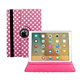 iPad Air 2 hülle, Avril Tian 360 Grad Drehbar Multi Winkel Bildschirm Schutz Flip Folio Magnetisch Stand Smart Schutzhülle Case Cover für Apple iPad Air 2 9.7 Zoll Tablette
