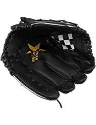 MagiDeal Softball Guantes de Béisbol Mitten Catcher para Entrenamiento de Lanzador de Mano Derecha - Negro + blanco, 11.5 pulgadas