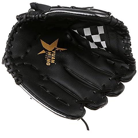 MagiDeal Baseball Handschuh Fanghandschuh (Left hand glove for right hand thrower) Infield / Outfield, Größe 11,5 Zoll / 12,5 Zoll Auswählbar - Schwarz + Weiß, 11,5 (Infielders Glove)