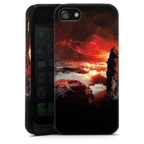 Apple iPhone X Silikon Hülle Case Schutzhülle Wolken Fantasie Berge Tough Case matt