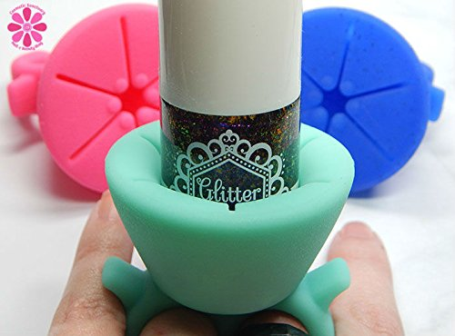 wearble-silicone-finger-ring-nail-polish-holder-universal-fit-fast-uk-dispatch-green
