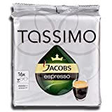 Factory Sealed Pack Tassimo T-Disc Pods Jacobs Espresso Coffee - 16 Servings