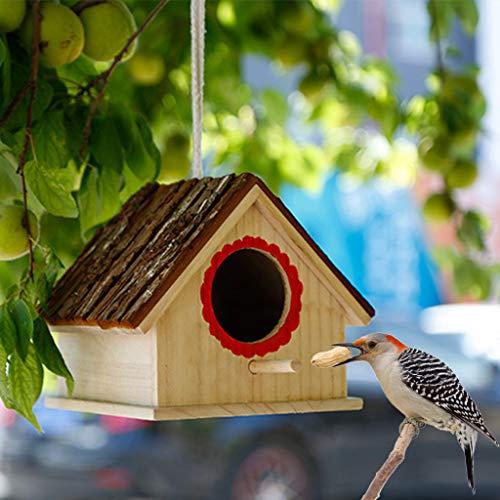 Vogelkäfig, natürliches Holz, zum Aufhängen, für den Außenbereich