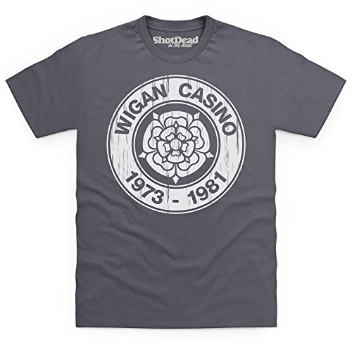 Birthplace Of Northern Soul T-Shirt, Herren Anthrazit