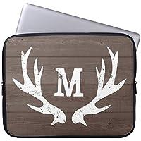 Elettronica Borsa in neoprene Laptop maniche 160524–3 Custom Initial Vintage Rustic Hunting Deer Antlers 10-10.8 (Deer Posta Elettronica)