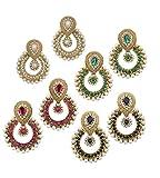 Spangel Fashion Gold Plated Jhumki Earri...