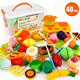 JoyGrow 40 Piezas Alimentos de Juguete Cortar Frutas Verduras Temprano Desarrollo...