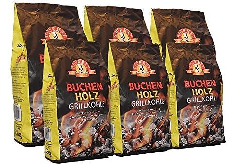 15kg Buchenholzkohle - Marken-Holzkohle aus Buchenholz - Grillkohle aus 100%