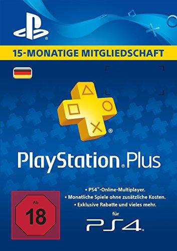 PlayStation Plus Mitgliedschaft 15 Monate [PS4 Download Code - österreichisches Konto]