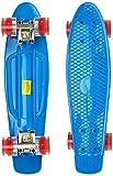 MARONAD 57cm Mini Cruiser board Retro Skateboard mit LED Leuchtrollen und Aluminium Trucks ABEC-7 Classics