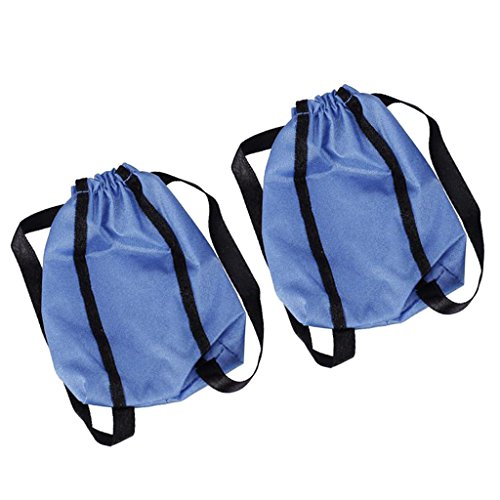 MagiDeal 2Pcs Fashion Blue Cloth Shopping Bag backpack Bag for Barbie Dolls Accessory Decoration  available at amazon for Rs.170