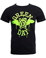Green Day Neon Wings T Shirt (Schwarz)