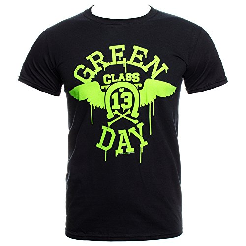 Green Day Neon Wings T Shirt (Schwarz) - Large (T-shirts Green-day-bedruckte)
