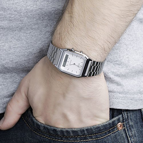 Casio Unisex- Armbanduhr Analog – Digital Quarz Retro Dual - 6