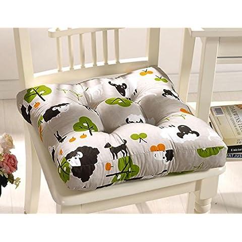Acolchado silla cojín impresión lija sólido Silla Cojín Silla de comedor cojín 40*40cm 5