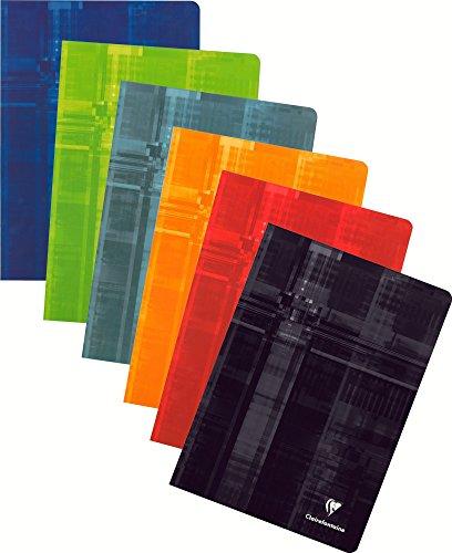 Clairefontaine 63164C Notizblock, geheftet, A4,kariert, 4x 4,96Seiten mit Rand, 1Stück