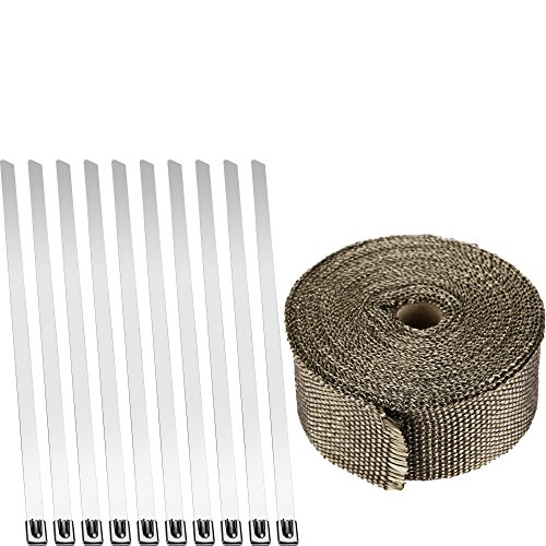 Fafada Hitzeschutzband breit bis 1400° Hitzeschutz Heat Wrap Krümmer 10mx50mmx1.5mm