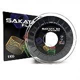 Sakata PLA3D850 3D-Filament, 1kg, 1,75mm, Ingeo Biopolymer 3D850,für 3D-Drucker und 3D-Stifte, hergestellt in Spanien, Carbon Glitzer, 1