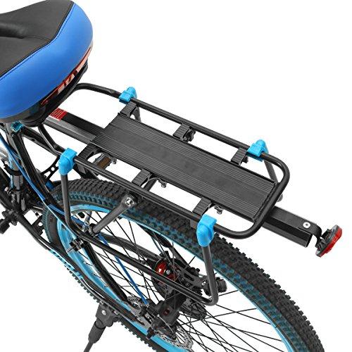 OUTERDO Fahrrad Gepack Rack Sitz hinten schnell herausnehmbare Regal maximal 25KG tragen schwarz