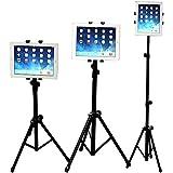 Soporte tablet, WER Universal Soporte Trípode Ajustable de 360° Giratorio SoporteTelescopico para iPad/iPad2 Mini y Otras Tabletas de 7-10 Pulgadas