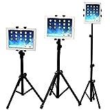 WER Universal-Tablet-Halterung/Stativ, um 360 Grad verstellbar, Teleskop-Halterung für iPad / iPad2 Mini und andere Tablets von 7-10 Zoll/17,8-25,4 cm
