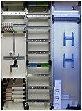 TM: 12071: Hager Zählerschrank 1x 3.HZ Zähler + 1x Verteiler + 1x Multimediafeld ZB33NW