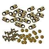 Sharplace 20er Set Schnürsenkel Schnalle Verschluss Anti-Rutsch-Stopper Clips Klemme - Bronze, wie beschrieben