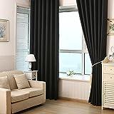 Verdunkeln wärmeisolierendem Verdunklungsvorhänge, Sichtschutz Fenster Vorhang Panel Top Pocket Solid Drapes Draperie Set für Schlafzimmer Wohnzimmer Ein Stück