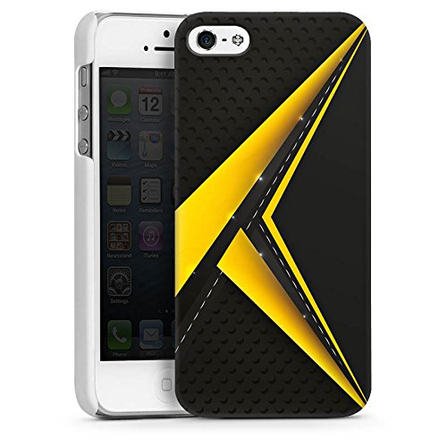Apple iPhone 5s Housse Outdoor Étui militaire Coque Noir jaune Motif Motif CasDur blanc