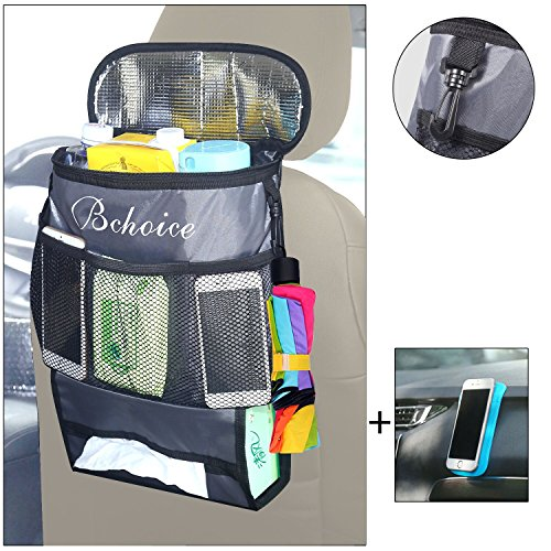 Auto Rücksitz Organizer, Bchoice Multi-Pocket mit Big Storage Bag, Great Car Accessoire für Ihre Reise + Free Car Anti-Rutsch-Matte