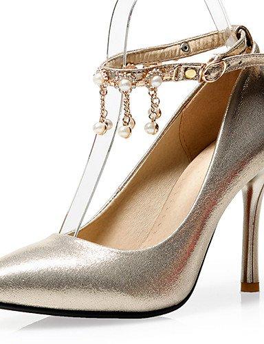 GGX/ Damen-Hochzeitsschuhe-Absätze / Pumps / Spitzschuh-High Heels-Hochzeit / Kleid / Party & Festivität-Rot / Silber / Gold , 3in-3 3/4in-golden (Zoll Schuh Silber Kleid Damen 3)