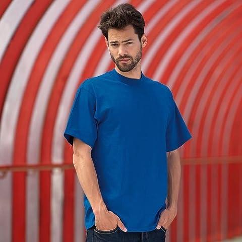 Russell Collection Super Heavyweight à anneaux-T-Shirt uni Chemise pour homme